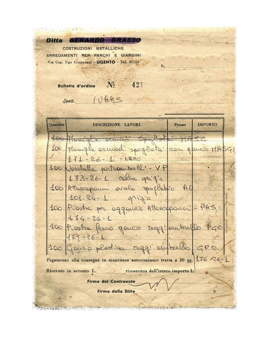 1965 I primi ordini