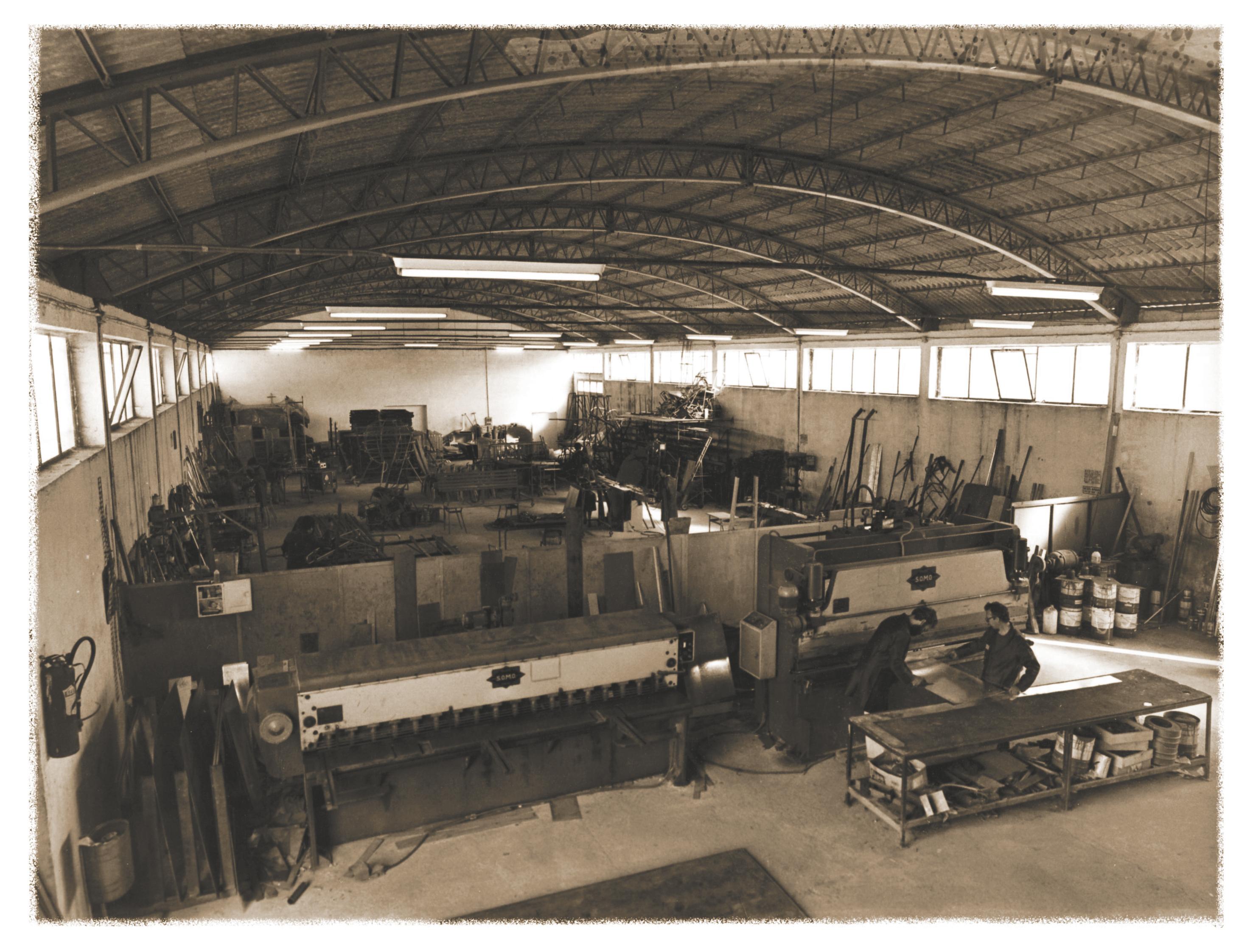 1970/1985 Il primo Opificio in Via Cap . Ugo Giannuzzi